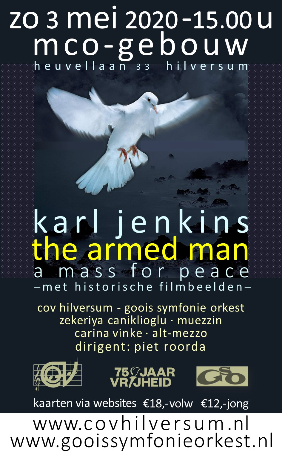 The Armed Man zo 3 mei as COV Hilversum